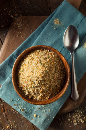 Organic Homemade Bread Crumbs Ready for Cooking Stock Photo