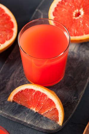 grapefruit juice: Fresh Squeezed Organic Grapefruit Juice in a Glass Stock Photo