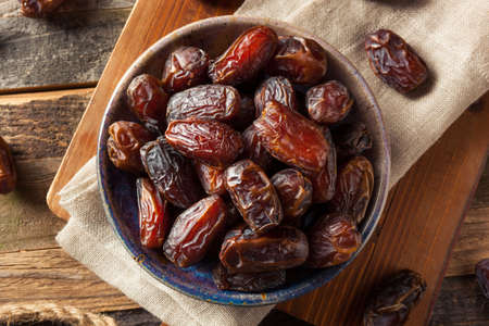 Raw Organic Medjool Dates Ready to Eat Stock Photo
