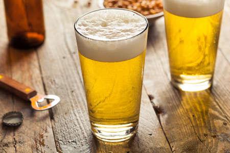pilsner beer: Refreshing Summer Pint of Beer Ready to Drink
