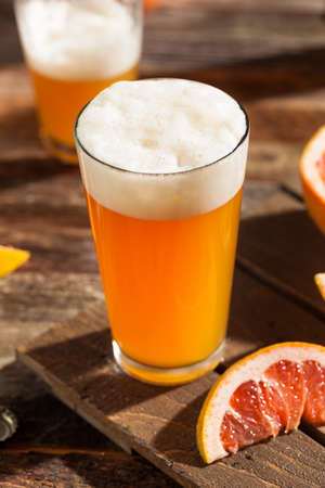 brewery: Sour Grapefruit Craft Beer Ready to Drink Stock Photo