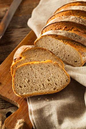 rye bread: Homemade Crusty Rye Bread Ready to Eat