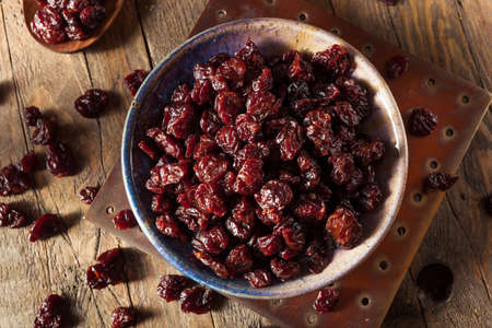 Organic Raw Dry Cherries in a Bowl