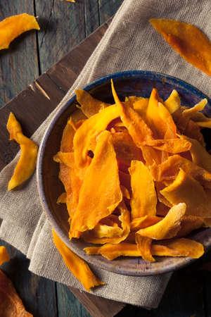 Raw Organic Dried Mangos in a Bowl