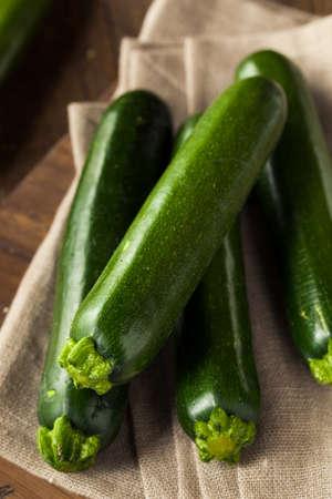 Raw Green Organic Zucchini Squash Ready to Eat