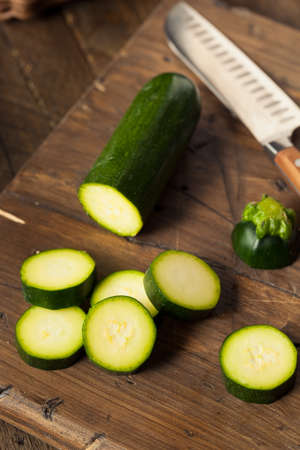 phallic: Raw Green Organic Zucchini Squash Ready to Eat
