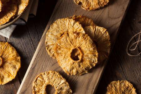 Dry Organic Pineapple Slices Ready to Eat Zdjęcie Seryjne