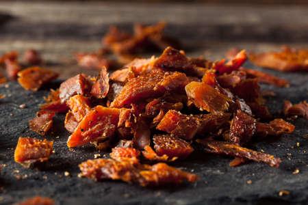 Dried Smoked Salmon Jerky with Salt and Pepper Stok Fotoğraf
