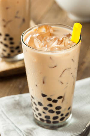 taro: Homemade Milk Bubble Tea with Tapioca Pearls