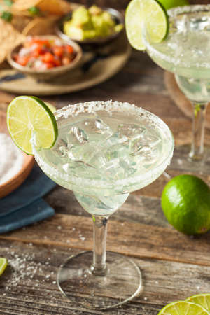 margaritas: Refreshing Homemade Classic Margarita with Lime and Salt