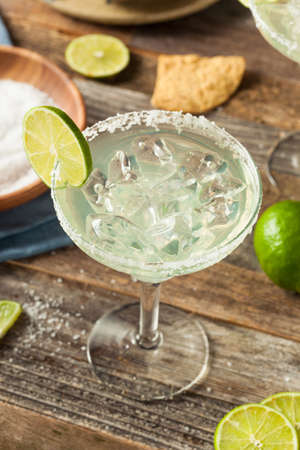 bartending: Refreshing Homemade Classic Margarita with Lime and Salt