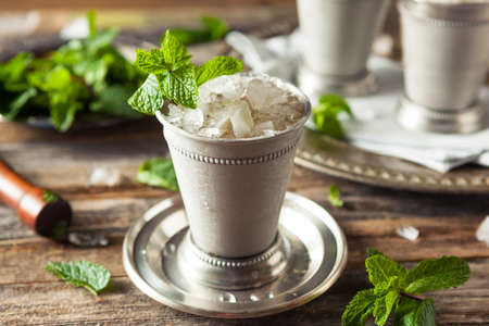 Cold Refreshing Classic Mint Julep with Mint and Bourbon Zdjęcie Seryjne