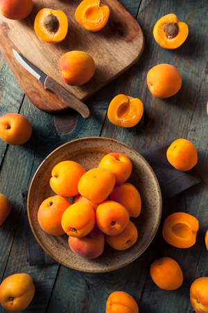 Raw Organic Yellow Apricots Ready to Eat