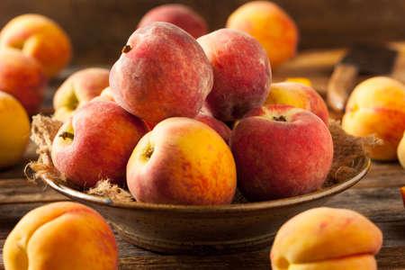 peach: Fresh Juicy Organic Yellow Peaches Ready to Eat