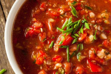 gazpacho: Spicy Homemade Gazpacho Soup Ready to Eat