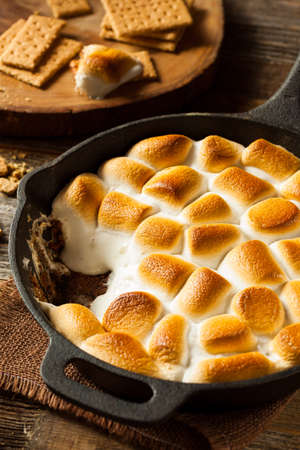 Graham: Homemade Smores Dip with Graham Crackers Marshmallow and Chocolate