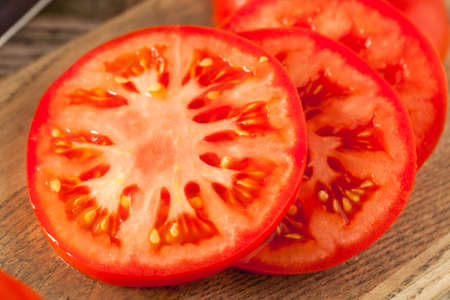 Raw Organic Red Beefsteak Tomatoes Ready for Cooking Reklamní fotografie