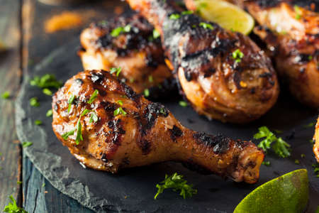 cuisine: Spicy Grilled Jerk Chicken with Lime and Spices