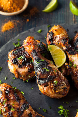 charred: Spicy Grilled Jerk Chicken with Lime and Spices