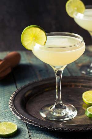 garnish: Classic Lime Daiquiri Cocktail with a Garnish Stock Photo