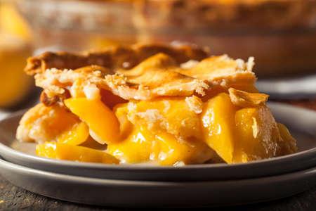 peach: Homemade Warm Peach Pie Ready to Eat Stock Photo