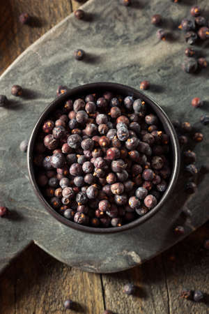 juniper tree: Raw Organic Juniper Berries in a Bowl