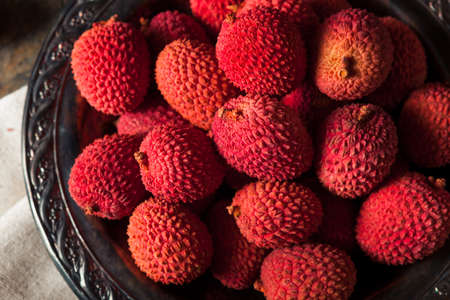 leechee: Raw Organic Red Lychee Berries Ready to Eat