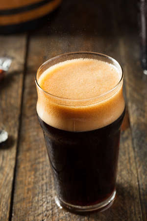 root beer: Refreshing Cold Alcoholic Hard Root Beer Ready to Drink Stock Photo