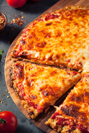 crust crusty: Healthy Homemade Quinoa Crust Cheese Pizza with Basil