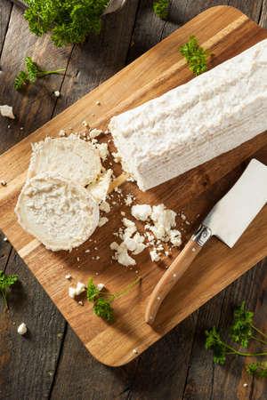 queso cabra: Prima orgánicos blancos Queso de Cabra listo para cocinar Foto de archivo