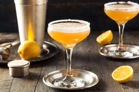 Refreshing Boozy Sidecar Cocktail with a Sugar Rim