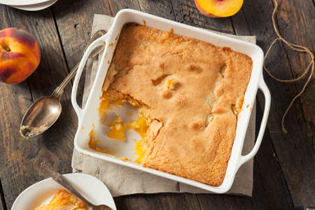 pastry crust: Delicious Homemade Peach Cobbler with a Pastry Crust