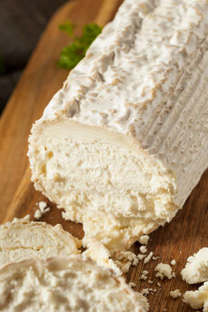 queso de cabra: Raw White Organic Goat Cheese Ready for Cooking