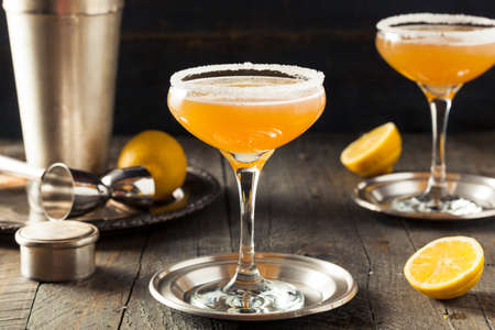 sidecar: Refreshing Boozy Sidecar Cocktail with a Sugar Rim