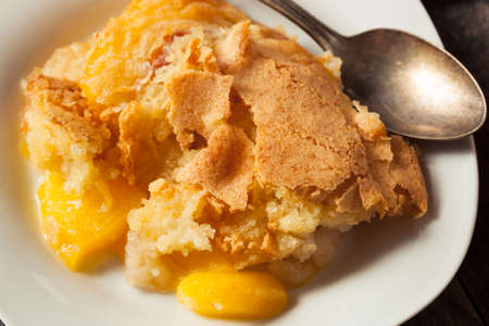 Delicious Homemade Peach Cobbler with a Pastry Crust