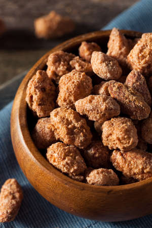 Homemade Sweet Cinnamon Coated Almonds Ready to Eat Stock Photo