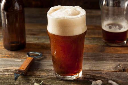 brown: Refreshing Brown Ale Beer Ready to Drink