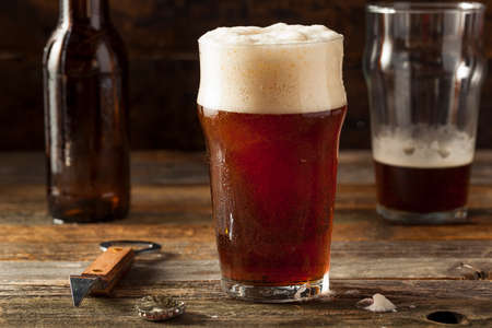 ale: Refreshing Brown Ale Beer Ready to Drink