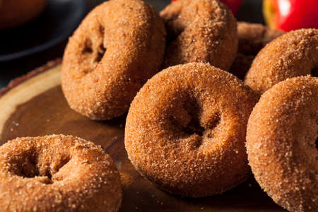 sugared: Homemade Sugared Apple Cider Donuts with Cinnamon