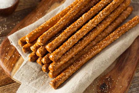 pretzel: Crunchy Salty Pretzel Rods Ready to Eat