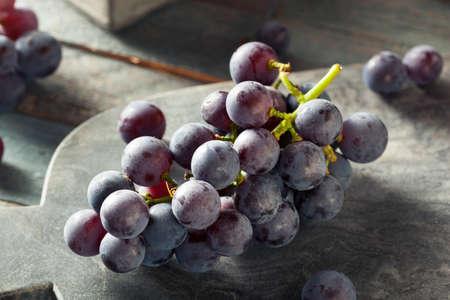 유기농 자주색 콩코드 포도 요리 준비 스톡 콘텐츠
