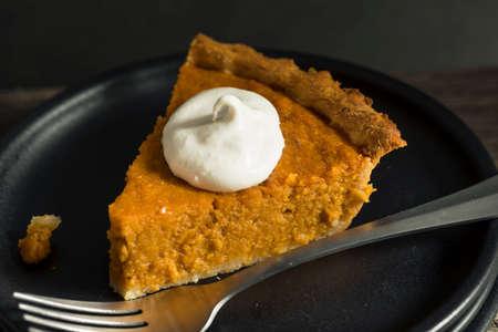 sweet potato: Homemade Festive Sweet Potato Pie For Thanksgiving Stock Photo