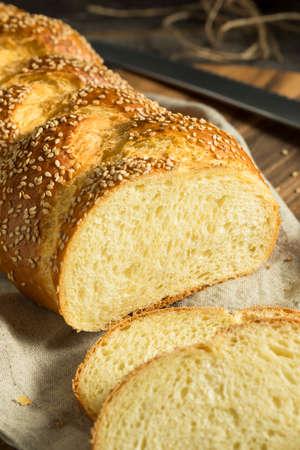 shabat: Casera de sésamo pan jalá Listo para comer