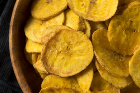 plantain: Healthy Homemade Plantain Chips with Sea Salt