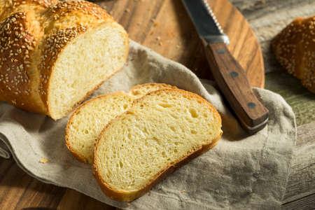 shabat: Homemade Sesame Challah Bread Ready to Eat