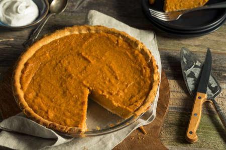 homemade: Homemade Festive Sweet Potato Pie For Thanksgiving Stock Photo