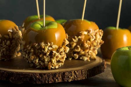 Homemade Organic Candy Taffy Apples for Halloween