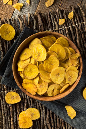 Healthy Homemade Plantain Chips with Sea Salt