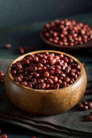 Raw Organic Red Adzuki Beans in a Bowl