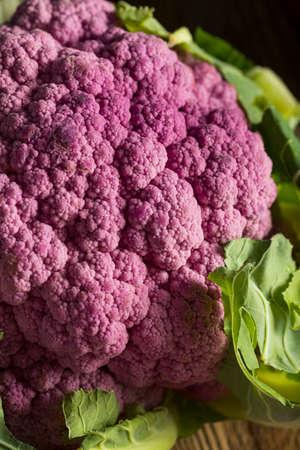 caulis: Raw Organic Purple Cauliflower Ready to Cook